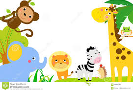 jungle animals border clipart.  Animals Fun Jungle Animals Border In Clipart A