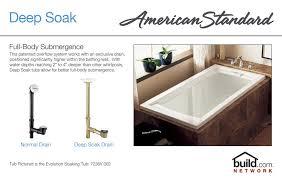 american standard 2422 v002 020 white evolution 60 acrylic soaking bathtub with reversible drain lifetime warranty faucet com