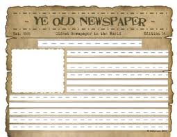 1800 Newspaper Template Write It Out Blank Newspaper Writing Templates