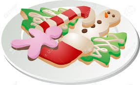 plate of christmas cookies clipart. Assorted Christmas Cookies Arranged On Plate Isometric Desserts Clipart And Of