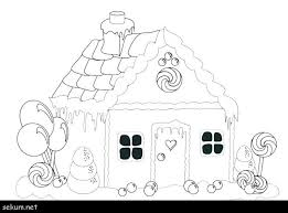 House Color Page Gingerbread House Coloring Page Gingerbread