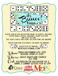 things to raffle off at a fundraiser bunco fundraiser
