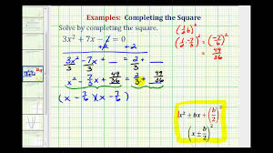 ex 4 completing the square leading coefficient not 1