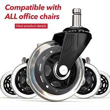 office chair wheels replacement rubber chair casters for hardwood floors and carpet set of 5