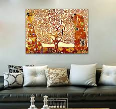 wieco art tree of life giclee canvas prints gustav klimt artwork oil paintings reion pictures to photo printed on canvas wall art for home and