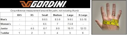 Gordini Gloves Size Chart Images Gloves And Descriptions