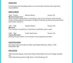 Resume For Auto Mechanic Fascinating Automotive Mechanic Resume Letsdeliverco