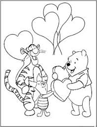 pooh valentine coloring pages winnie the pooh also called pooh bear is a fictional anthropomorphic bear created by a