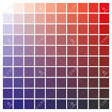 Red Color Chart Cmyk Color Chart To Use In Prepress And Printing Used To Pick