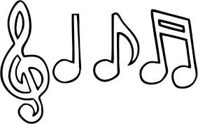 Music Notes Drawing Coloring Page Download Print Online