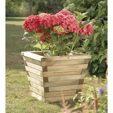 Garden deco  Wooden Planter.