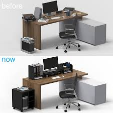 office desktop storage. FITUEYES Wood Office Desk Organizer With Drawers, Paper Storage And Accessories Black DO303501WB Desktop P