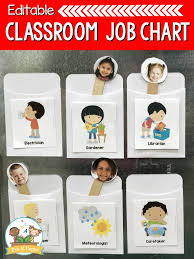 Classroom Chore Chart Diy Classroom Helpers Job Chart