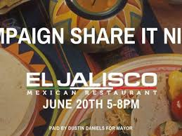 Restaurant to share proceeds with Dustin Daniels for mayor's race