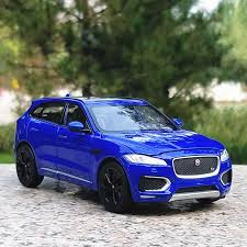 jaguar f pace suv model cars toys 1 24 collection gifts alloy cast blue new
