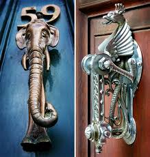almost simultaneously with the installation of doors in homes people invented the door knocker and they must not only announce visitors