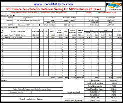 Invoice Selling Download Gst Invoice Format For Selling Goods On Mrp Inclusive Of