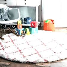 round plush nursery rug baby crawling mat floor mats pink area soft and cloudy trellis kids