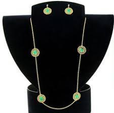 long goldtone necklace set lynda tomaini i love jewelry