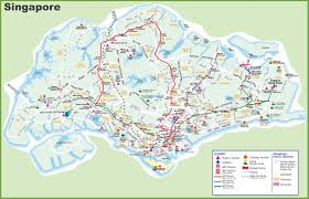 large transport map of singapore