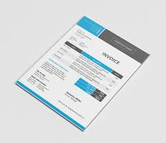 Modern Docx Invoice Template Stationery Templates Creative Market F
