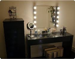 Mirror Lights Bedroom Ikea Malm Vanity Mirror Lights And Stool Also From Ikea Make