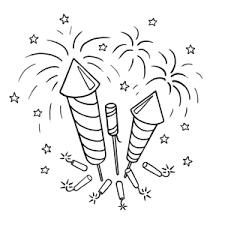 Vuurwerk Met Oudjaar Nieuwjaar Kleurplaten Leuk Voor Kids