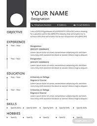 Free Blank Resume Templates Download Free Blank Resume And Cv Template Download 200 Resume Templates In