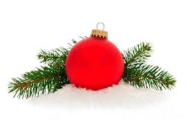 Christmas Photograph - Red Christmas Bauble by Elena Elisseeva