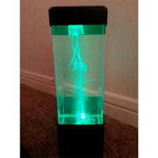 Jellyfish Tank Mood Light Aquarium Style Sensory Autism Lava Lamp Led Desk Drop Ship
