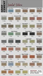 A Curbing Edge Color Chart Page