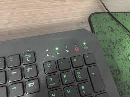 Razer Deathstalker Lights Not Working What Do The Lighted 1 5 Indicators On My Razer