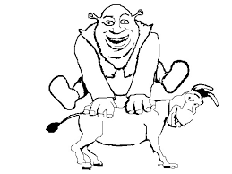 Small Picture Shrek Coloring Pages kids world