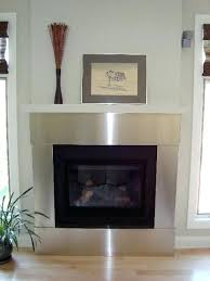 contemporary metal fireplace mantels