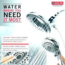 shower heads delta shower head combo dual hand held with metal hose the delta shower head