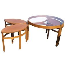 nesting coffee table vintage danish nesting coffee table set for round nesting coffee tables canada