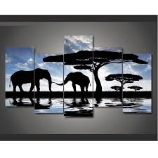 african landscape elephant it make your day on african elephant canvas wall art with 5 piece african landscape elephant canvas wall art paintings for