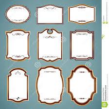 set of ornate frames vector art ilration