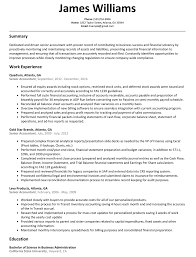 Senior Accountant Resume Sample Resumelift Com