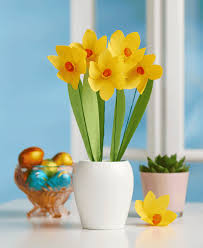 Daffodil Paper Flower Pattern Spring Archives Papercraft Inspirations
