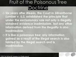 What Does Fruit Of The Poisonous Tree Mean  YouTubeFruit Of Poisonous Tree Doctrine Definition