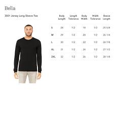 Bella Canvas Hoodie Size Chart Print On Demand Bella Canvas 3501 Gooten
