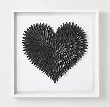 feathered heart graphite on feather heart metal wall art with wall d cor rh teen