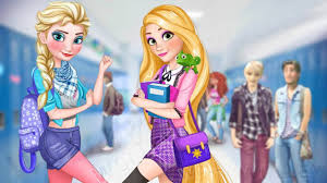 dress up elsa rapunzel college s disney princess makeup cartoon games for gils