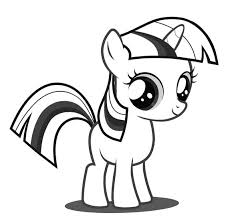 My Little Pony Coloring Pages Twilight Sparkle Baby Coloringstar