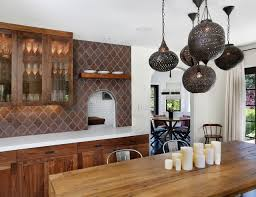 hillsborough spanish influence contemporary dining room