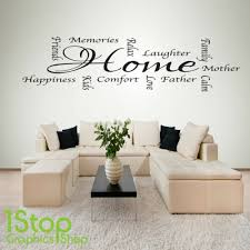 home words wall sticker quote bedroom