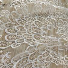 <b>New White feather</b> cotton thread feather pattern elegant lace ...