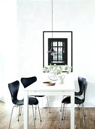 white round table with chairs white table black chairs room with a view print by coco