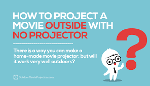 can you project a outdoors without a projector